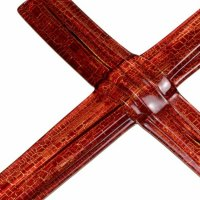 Ruby layered glass wall cross