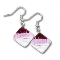 Pink glass earrings HELENE N1101