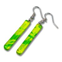 Glass earrings green DAISY N1403