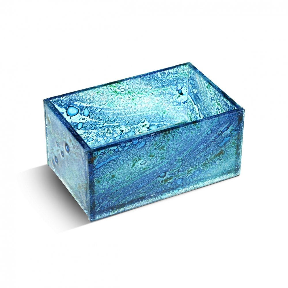 Glass jewellery boxes blue 03