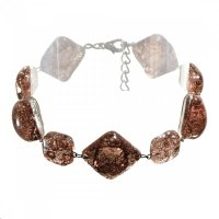 Glass bracelet brown TERRA 0201