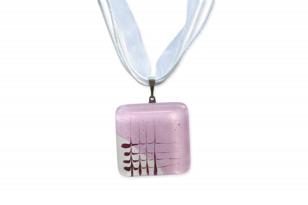 Pink diamond glass pendant HELENE P1104