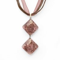Glass pendant brown TERRA PD0202