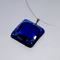 Glass pendant dark blue PARIS P0305