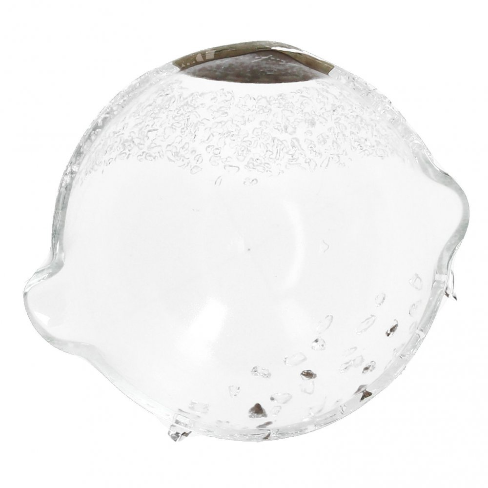 Smaller clear glass bowl PERLA SILVER