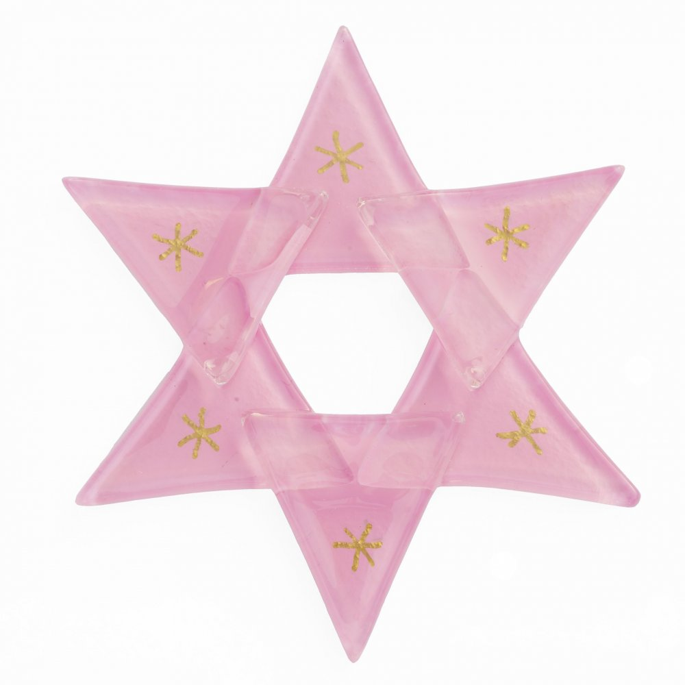 Christmas glass star pastel pink