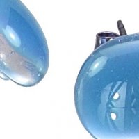 Glass earrings blue PUZETY N1808