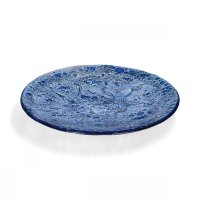 Round glass bowl CELEBRA blue 02