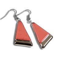 Pink PLATINUM glass earrings NP1601
