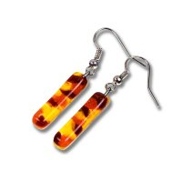 Glass earrings yellow JULIET SLEV_N_033