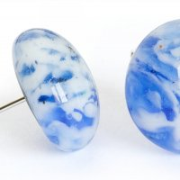 Glass earrings blue tabby PUZETY N1832