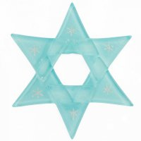 Christmas glass star pastel blue