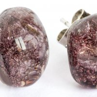 Glass earrings brown PUZETY TERRA N1807