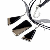 Jewelry set black PLATINUM 0801