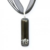 Rectangular glass pendant black KIM P0806