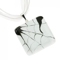 White square glass pendant LINDA P0702