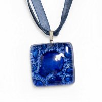 Glass pendant dark blue PARIS P0301