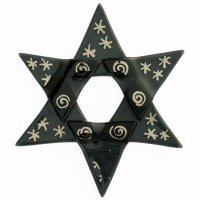 Christmas glass star black - silver line drawing