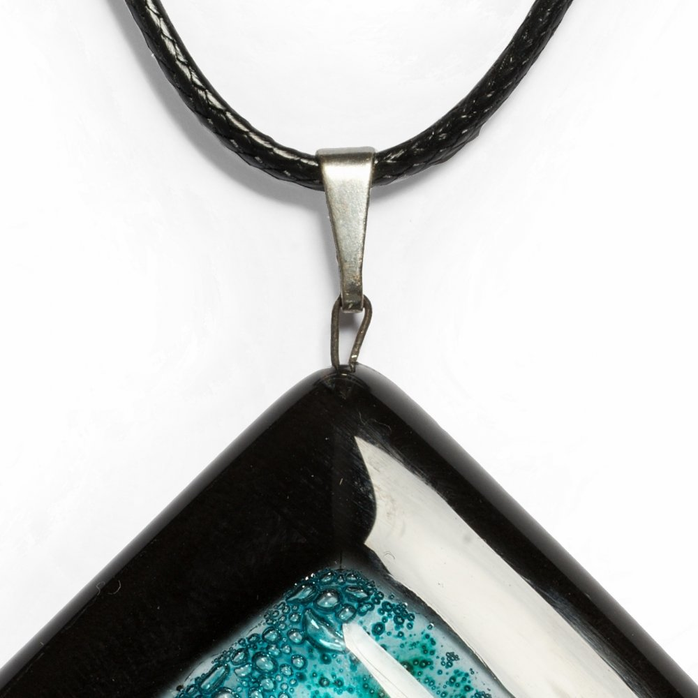 Glass rhombus pendant NIGHT OWL P0810