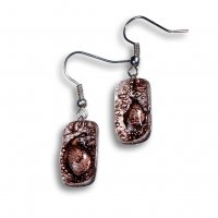 Glass earrings brown TERRA N0203