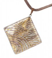 Glass pendant brown PZ0201