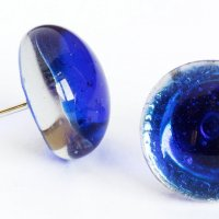 Glass earrings blue PUZETY N1822