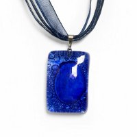 Glass pendant dark blue PARIS P0302