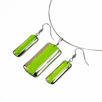 Jewelry set PLATINUM green - 1403