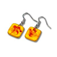 Glass earrings yellow JULIET N1301