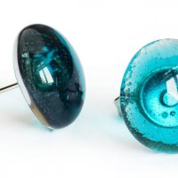 Glass earrings turqoise PUZETY N1825