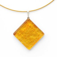 Glass pendant square yellow JULIET P1304