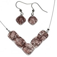 Set glass jewelry brown TERRA - 0201