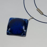 Glass pendant dark blue PARIS P0303
