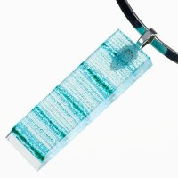 Cut glass jewelery turquoise BLANKYT PRV08085