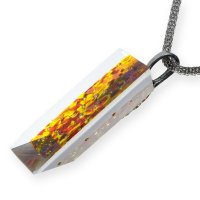 Cut glass jewelery amber PRV0821