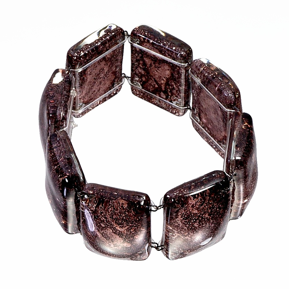 Glass brown bracelet TERRA 0203
