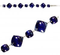 Glass dark blue bracelet PARIS 030