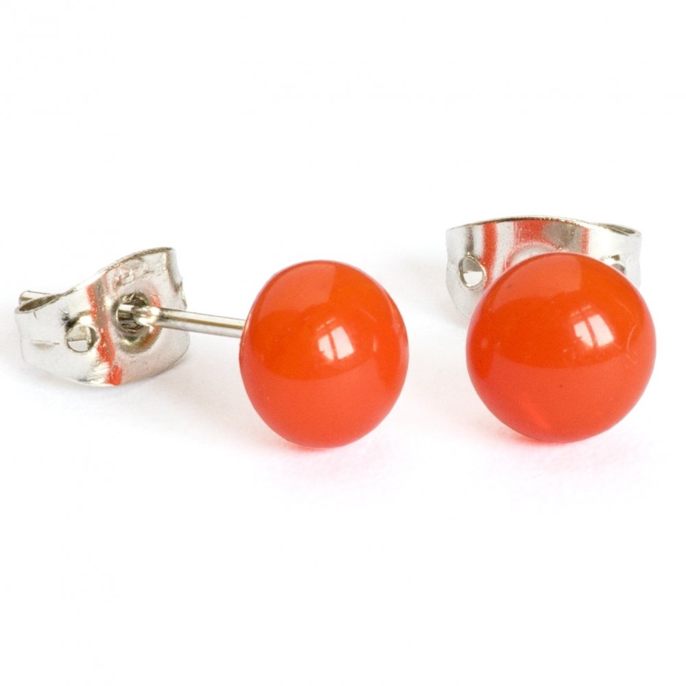 Orange glass earrings PUZETY N1834