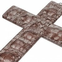 Brown glass wall cross