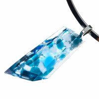 Luxury cut glass jewel blue-white PRV0809