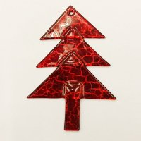 Christmas glass ornament tree red Antik