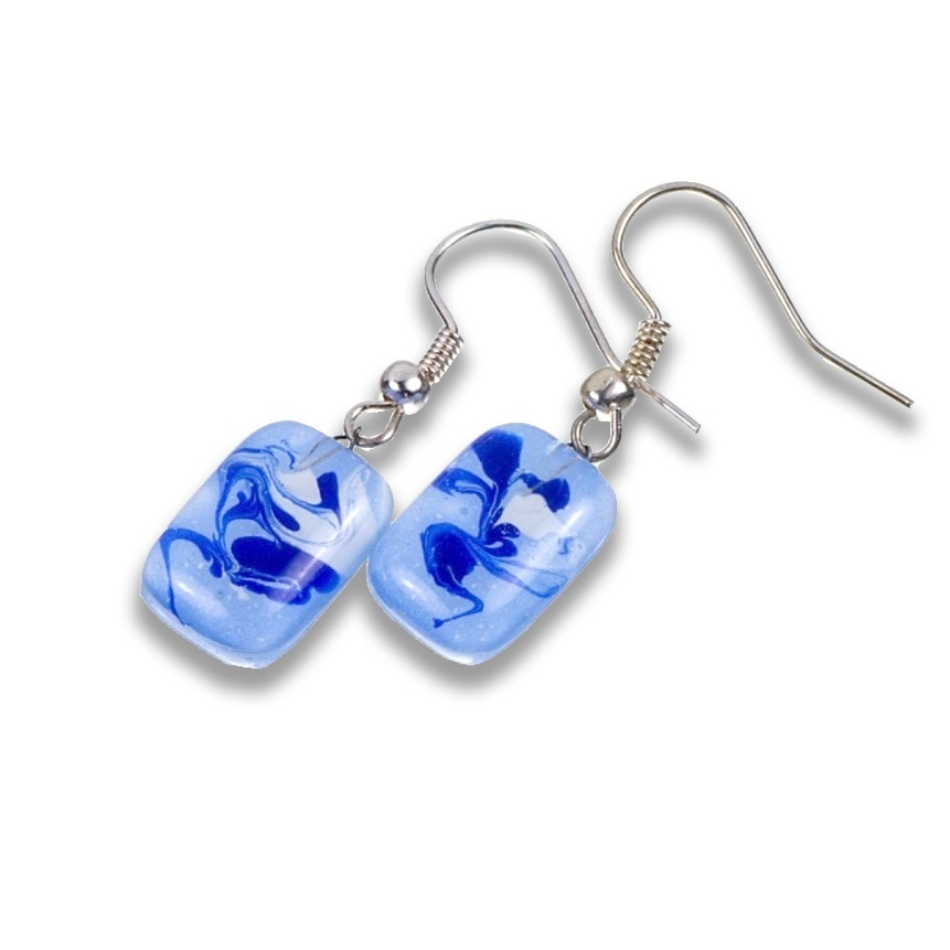 Glass earrings blue ANNA N1005