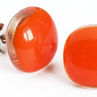 Glass earrings orange PUZETY N1815
