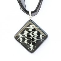 Black diamond glass pendant KIM P0804