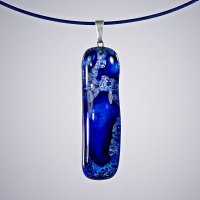 Glass pendant dark blue PARIS P0304