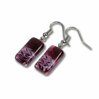 Glass earrings wine-coloured CHIARA N1204