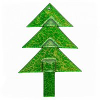 Christmas glass ornament tree green