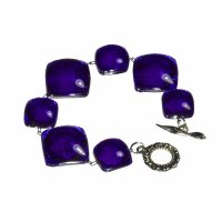 Glass dark blue bracelet PARIS 0302