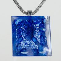 Cut glass square jewelery in Parisian blue PRV0822