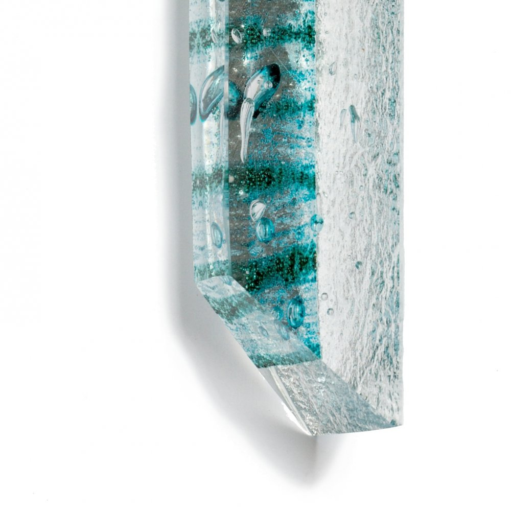 Cut glass jewel turquoise BLANKYT PRV0817